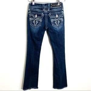 Rock Revival Deborah Boot Cut Jeans Flap Pocket 25